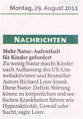 Thüringer Allgemeine vom 29.8.2011
