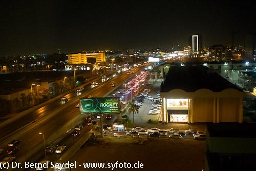 Jeddah bei Nacht - Blick aus meinem Hotelfenster